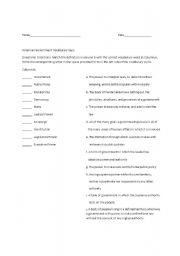 English Worksheet: American Government quiz