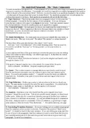 English Worksheet: Point of View