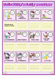 Hello Kitty´s daily routine
