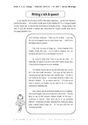 English Worksheets: Writing a speech
