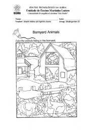 English Worksheets: Barnyard animals