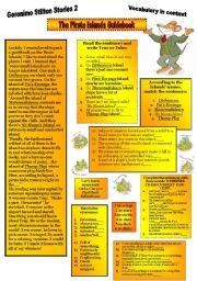 English Worksheets: Geronimo Stilton Stories2.