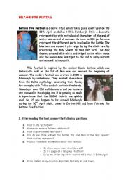 English Worksheets: BELTANE