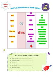 English Worksheets: WRITE QUESTIONS