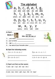 English Worksheet: Spelling ABC