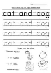English Worksheets: K1 writing and shape recognition
