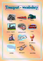Transport (road, trucks) pictionary 1/2