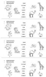 English Worksheets: zoo animals