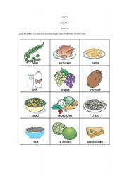 English Worksheet: Movers - Part 1 - Food