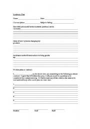 English Worksheets: Academic Plan
