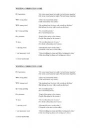 Essay correction worksheet