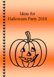 Ideas for Halloween Party + word-search
