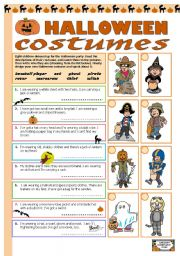 English Worksheets: Halloween costumes