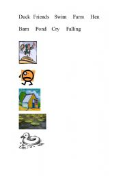 English Worksheets: Jen and Duck