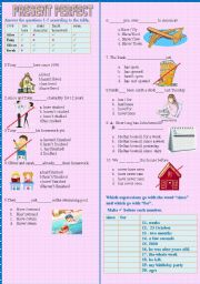 Since/for and Present Perfect Test