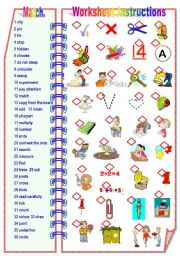 English Worksheet: Worksheet Instructions - Matching activity ** fully editable.