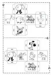 English Worksheets: Pets - DICE -  FULLY EDITABLE