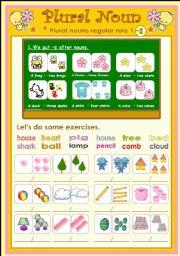 English Worksheets: Plural noun set 1(2 pages)