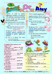 English Worksheet: Some / Any