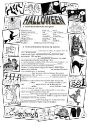 English Worksheets: Halloween