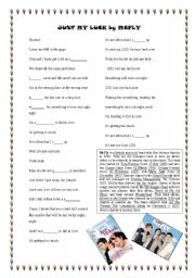 English worksheet: just my luck by Mcfly