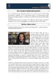 English Worksheets: Benjamin Zephaniah