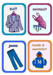 Clothes Flashcards 4-5