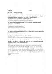 English Worksheets: informal formal language