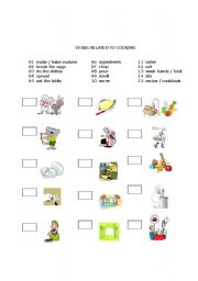 English Worksheet: Verbs Related to Cooking