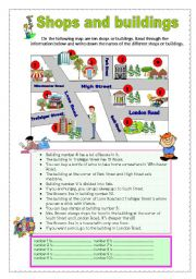 English Worksheet: Shops and building