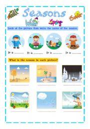 English teaching worksheets: Seasons