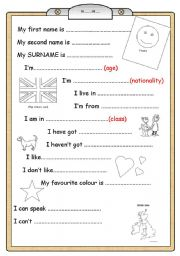 English Worksheet: BOOK COVER for young learners