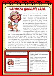 English Worksheets: Text: Vitoria Green