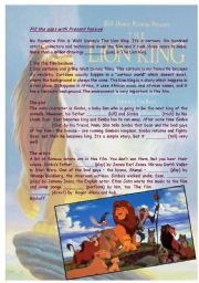 English Worksheet: The Lion King (my favourite cartoon)