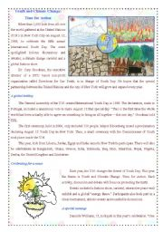 English Worksheet: Reading: Youth and Climate Change: Time for Action