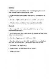 English Worksheet: Lord of the flies