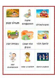 English Worksheet: Chuseok Flashcards part 1