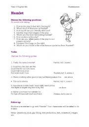 English teaching worksheets: Hamlet