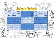English Worksheets: Animals Sudoku 1 + key (fully editable)