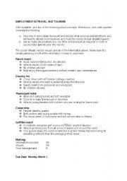 English Worksheets: RESORT PRESENTATION