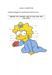 English Worksheets: Maggie�s Face