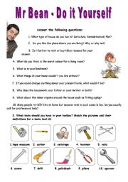 English Worksheet: Mr. Bean series - Do it yourself - VIDEO SESSION