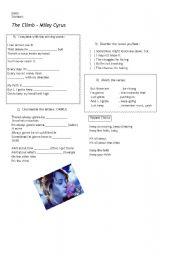 English Worksheets: Miley Cyrus - The Climb