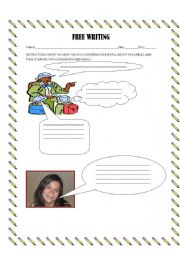 English Worksheets: Free writing