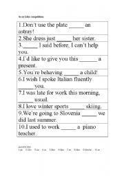English Worksheets: as and like