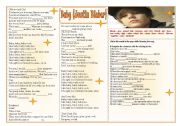 English Worksheets: Baby (Justin Bieber) - Listening and Vocabulary ((2pages)) - Keys included ***fully editable