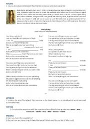 English Worksheet: Everything - Alanis Morissette