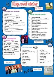English Worksheet: Hey, sould sister - Train