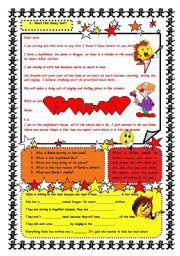 Reading comprehension - a short funny story - ESL worksheet