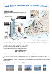 English Worksheets: What really happened on September 11th, 2001 ?
